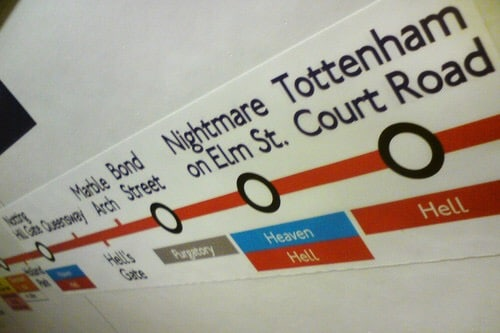 Fake London Underground signs captured on mobile are simply brilliant!